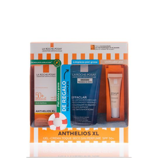 Kit-Anthelios-Toque-Seco--Effaclar-Gel---Effaclar-BB-Blur