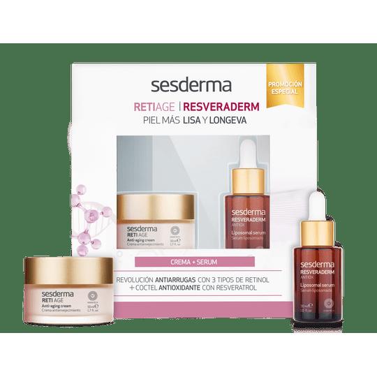 MEDIPIEL-cuidado-del-rostro-antiedad-sesderma-retiage-crema-resveraderm-serum